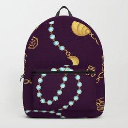 Chain belt pattern fashion design. Backpack