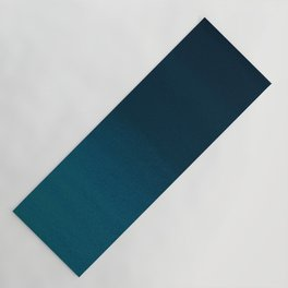Navy blue teal hand painted watercolor paint ombre Yoga Mat