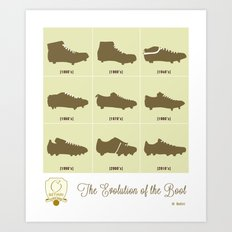The Evolution of the Boot Art Print