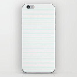 Blue Squiggly Line Boho Pattern iPhone Skin
