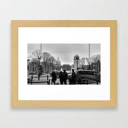 Welcome Back Framed Art Print