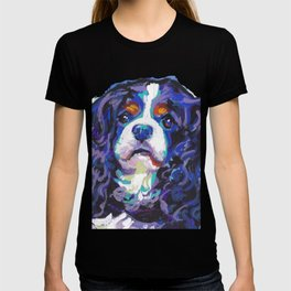 Tri-color Cavalier King Charles Spaniel Dog bright colorful Pop Art by LEA T-shirt