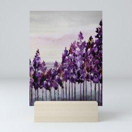Purple Trees Mini Art Print