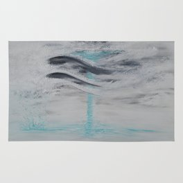 """Wind And Water"" Painting1of 2 - Elements Series Rug"