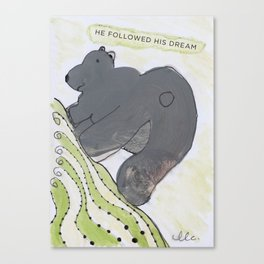Dream bear Canvas Print