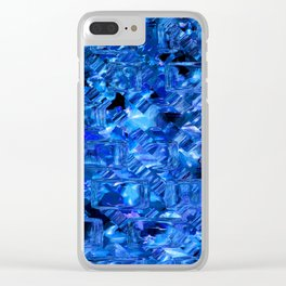 Ice Crystals Abstract Clear iPhone Case