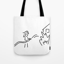 firefighter fire service Tote Bag