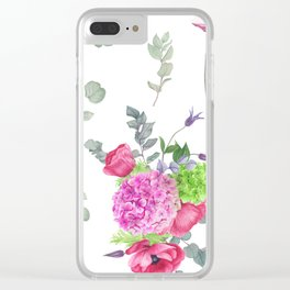 Hydrangeas and anemones Clear iPhone Case