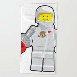 Vintage White Spaceman Minifig Beach Towel