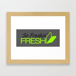 So Freakin' Fresh v4 HQvector Framed Art Print