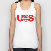 soccer Tank Tops featuring USA Soccer by Bunhugger Design
