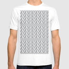 Pattern White MEDIUM Mens Fitted Tee