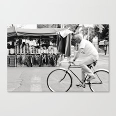 Blur by biker in Mexico City Canvas Print