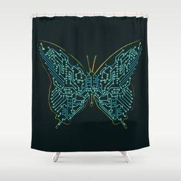 Mechanical Butterfly Shower Curtain