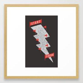 slalom Framed Art Print