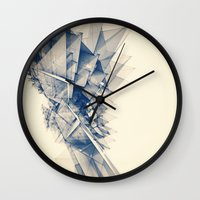 polygon Wall Clocks featuring Polygon Tower by Intelligent Pencil