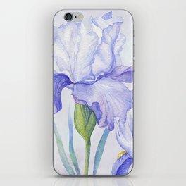 Watercolor Iris iPhone Skin
