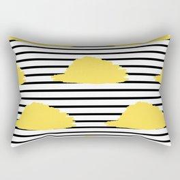Yellow & Black Stripes Digital Design Rectangular Pillow
