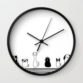 Dogs Wall Clock