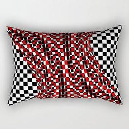 black white red 4 Rectangular Pillow
