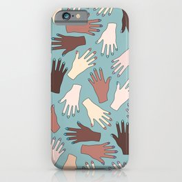 Nail Expert Studio - Colorful Manicured Hands Pattern iPhone Case