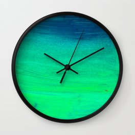 Floating on moss-coloured water    Wall Clock