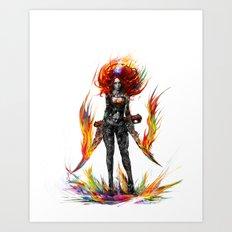 color attack Art Print