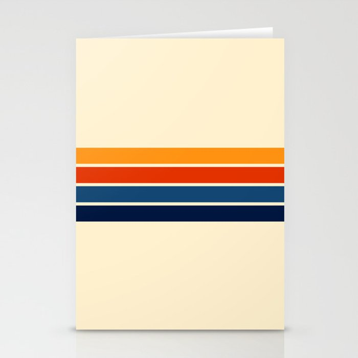 Classic Retro Stripes Stationery Cards