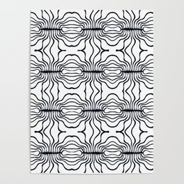 Mouth Collection: B&W stripy mouths Poster