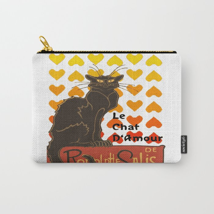 Le Chat Damour De Rodolphe Salis Valentine Cat Carry-All Pouch