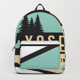 Yosemite National Parks Badge Backpack