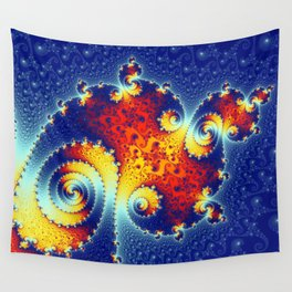 Fire in the Stars Mandelbrot Fractal Wall Tapestry