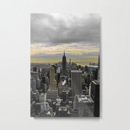 NYC (yellow splash) Metal Print