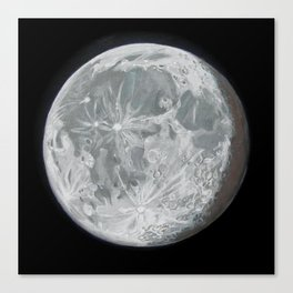 Moon Portrait 2 Canvas Print