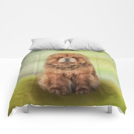Drawing dog chow chow Comforters