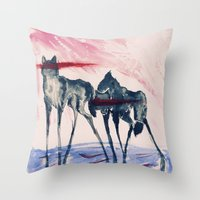 ford Throw Pillows featuring Ford by DogoD Art