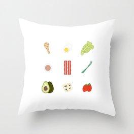Cobb Salad Throw Pillow