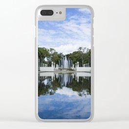 Los Próceres y sus reflejos Clear iPhone Case