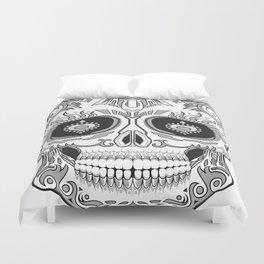 Grey dead skull Duvet Cover