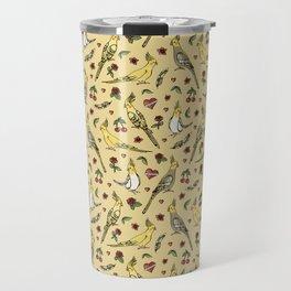 Cockatiel Tattoo Love Travel Mug