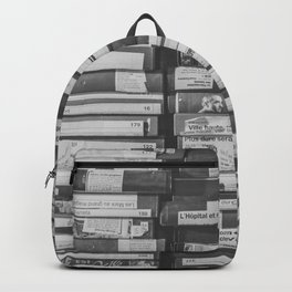 VHS Retro (Black and White) Backpack