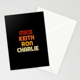 Mick Keith Ron Charlie Stationery Cards
