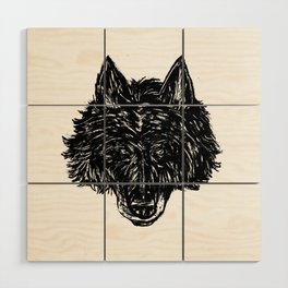 Wolf's Head Wood Wall Art