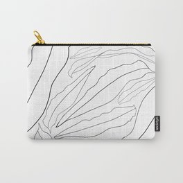 White Palm Leaves Carry-All Pouch