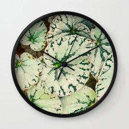 Begonia Leaf Wall Clock