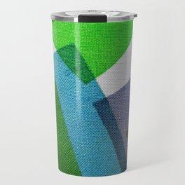 Composition Teal, Green and Violet Travel Mug