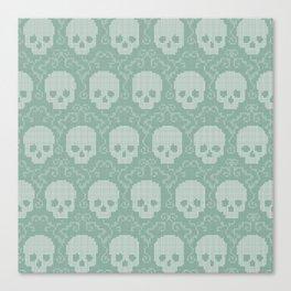 8 Bit Skulls Canvas Print
