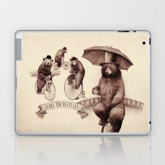 Bears on Bicycles Laptop & iPad Skin
