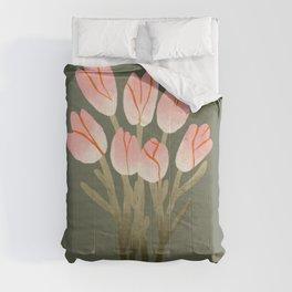 Tulip Drawing Comforters
