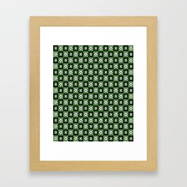 Soccer Motif Pattern Framed Art Print